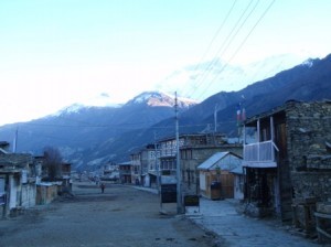 The main street (only street?) in Manang looks like something from the wild West, just a lot colder!