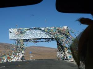 Gyatso La through the windshield...