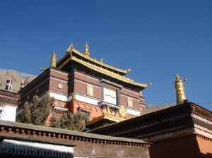 Tashilhumpo Monastery in the sunshine