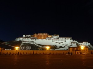The Potala by night is even more impressive than by day.
