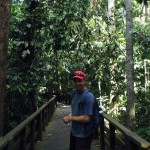 Scott venturing into the jungle (ahead of the crowds behind us)
