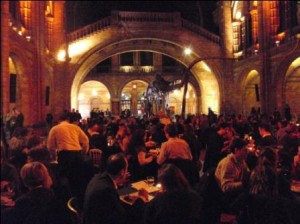Fantastic way to get people into the Museum - wine, food and music
