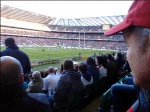 Scott watching the game.