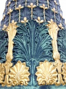 Beautiful copper and gold engravings and moldings