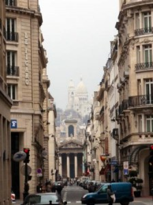 A view of Sacre Coeur on the way to the hotel.