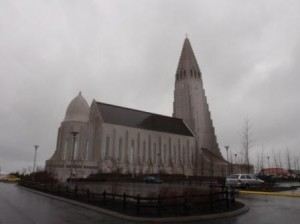 The church in daylight (yes it is still raining)