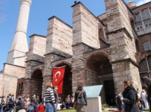 Outside the Hagia Sofia