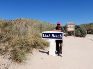 Scott at Utah Beach
