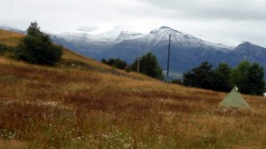 Snow on the mountains - summer!