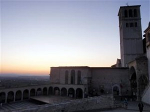 Sunset overlooking the church
