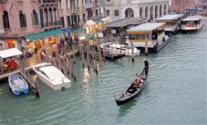 Gondola's on the Grand Canal