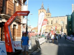 the Astorga start line
