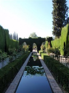 Water plays a major part in the garden design