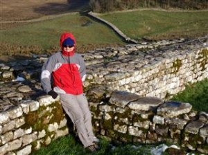Scott at Hadrians Wall